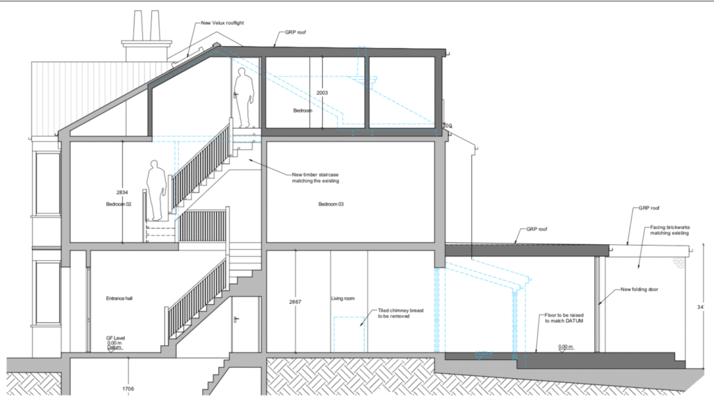 House renovation in London-drawings-Architecture100