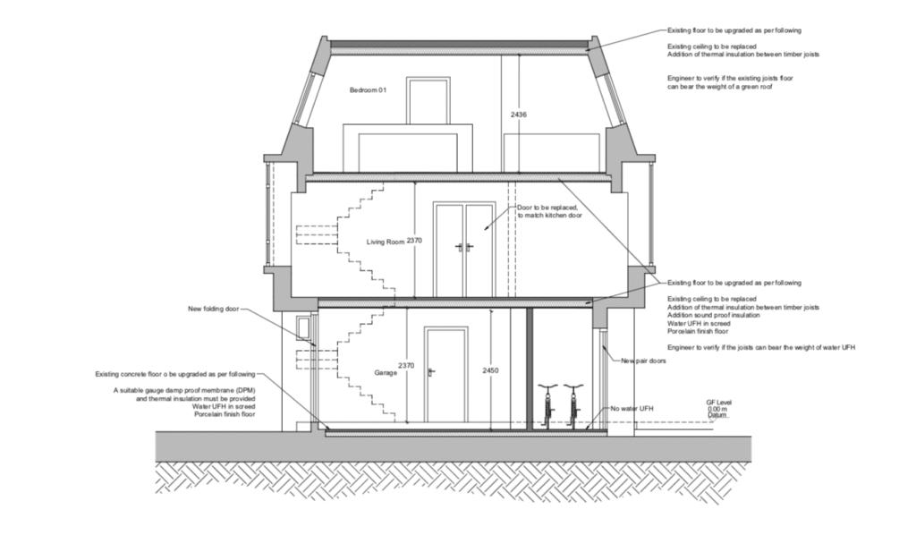 London loft conversion- drawings