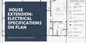 House extension electrical specifications on plan