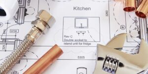 House extension: mechanical specifications on plan
